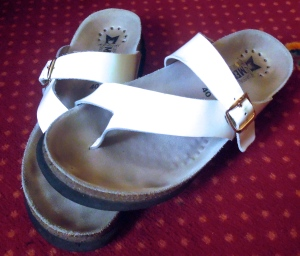 My trusty sandals.