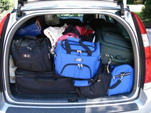 Loaded with luggage