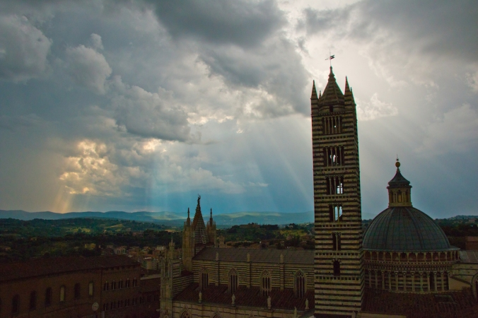 A magical moment at the Duomo of Siena. Photo: Marco Zamperini.