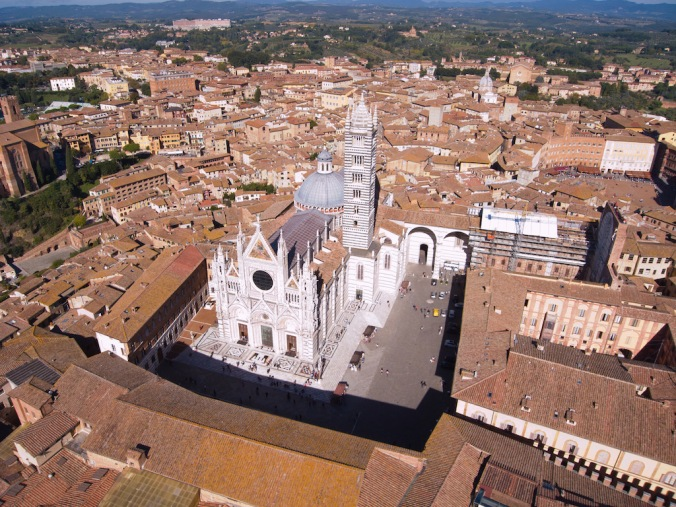 Siena Duomo from above. Photo: Marco Zamperini.