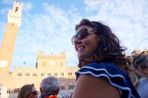 Awaiting the start of the Palio. (It's not quite the same as my logo, but almost!) Photo credit: Marco Zamperini